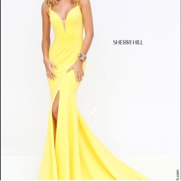 Sherri Hill Dresses | Yellow Prom Dress | Poshmark
